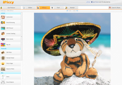 iPiccy image editor online Editare una foto online senza Photoshop