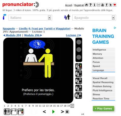 pronunciator imparare nuove lingue online Come imparare le lingue online con internet