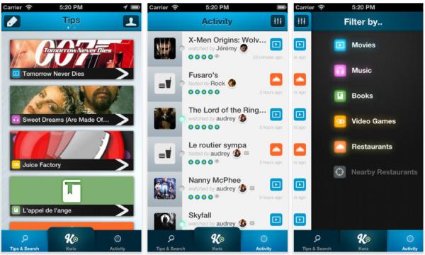 Kwixer applicazione smartphone.per le raccomandazioni online 600x360 Kwixer applicazione per iPhone per le raccomandazioni