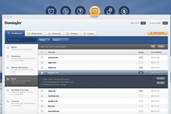 dominder 600x399 Website manager controlla luptime dei tuoi siti web